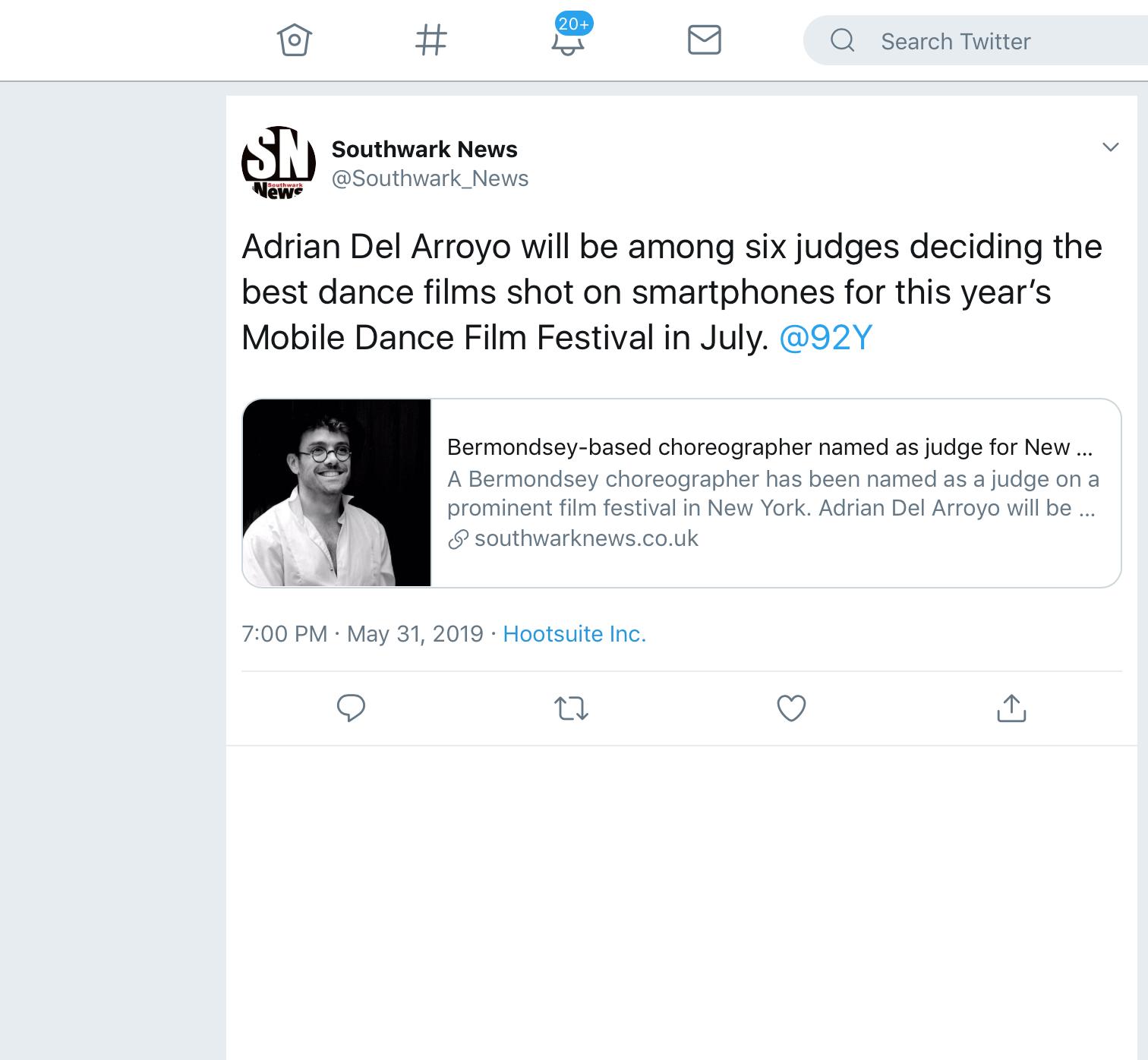Twitter Southwark News 31.05.19