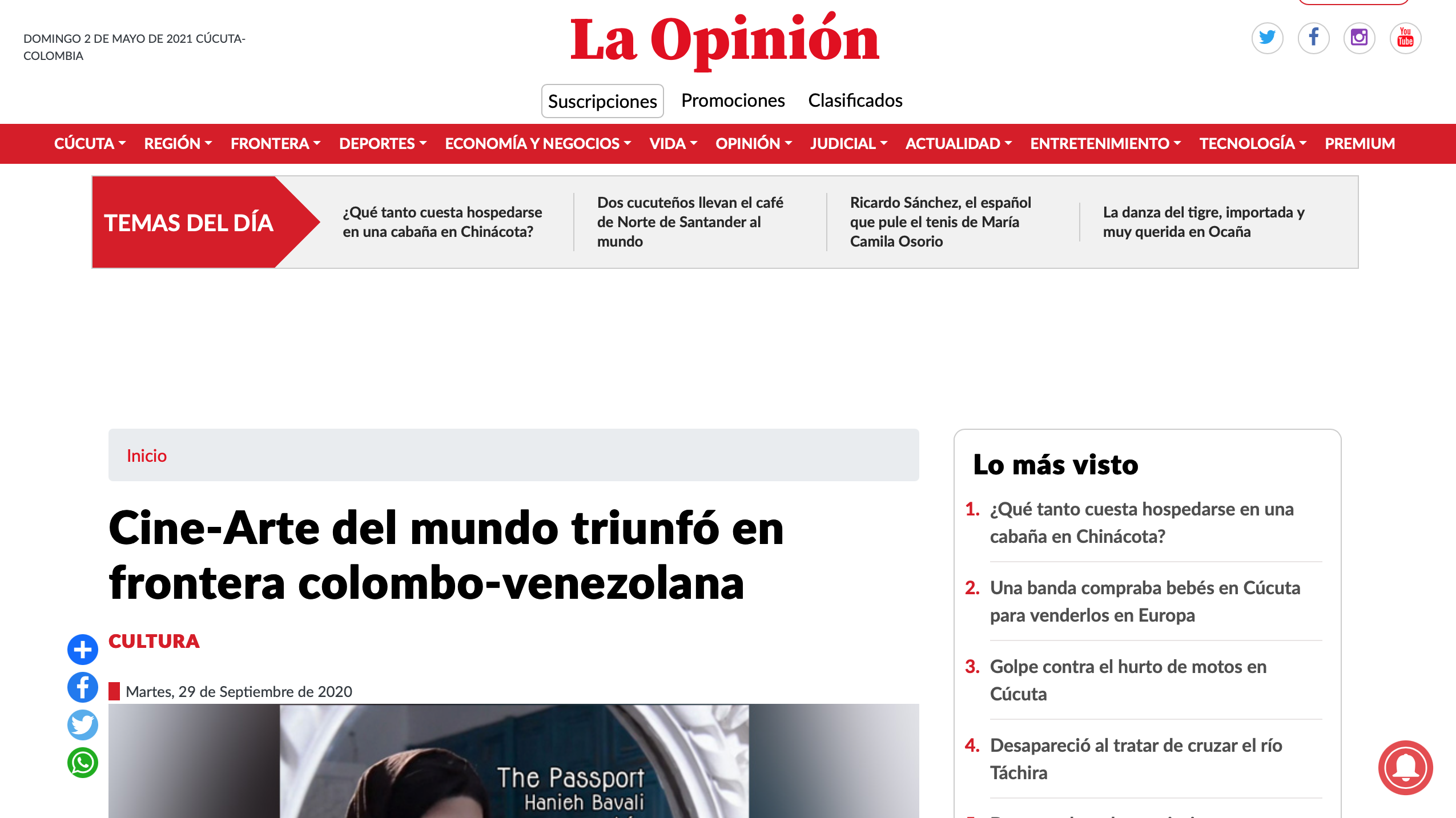 La Opinion 1 Screenshot 2021-05-02 at 20.07.04